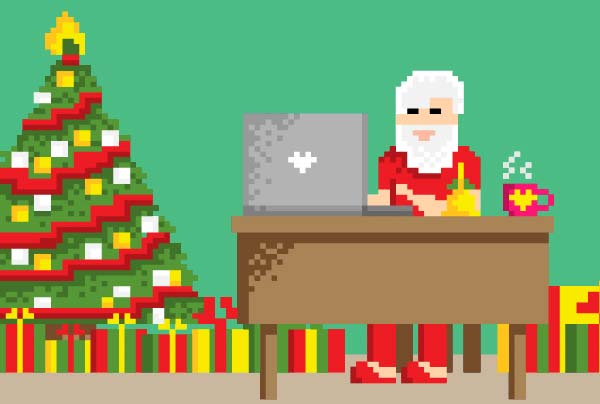 Christmas 8 bit Animation